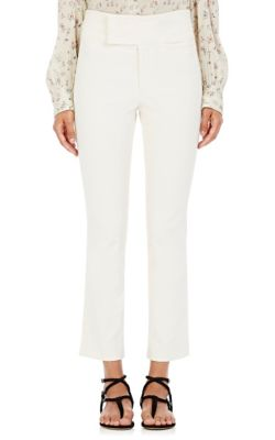 Isabel Marant Cottons Ovida Cotton Crop Flared Trousers