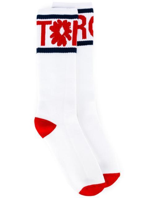 Tomorrow print socks - White Stella McCartney
