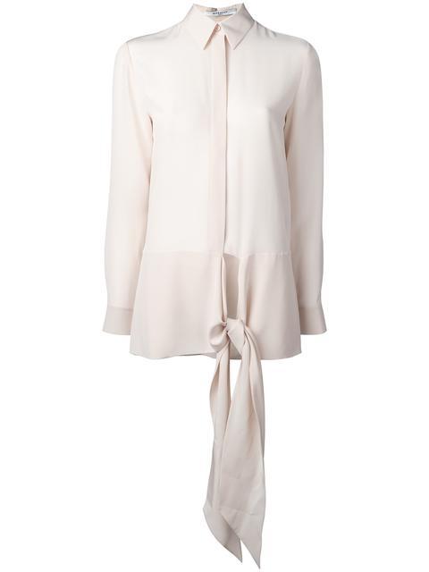 Givenchy Silks GIVENCHY WAIST TIE SHIRT - NEUTRALS