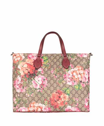GUCCI Gg Blooms Top-Handle Tote Bag, Rose/Multi