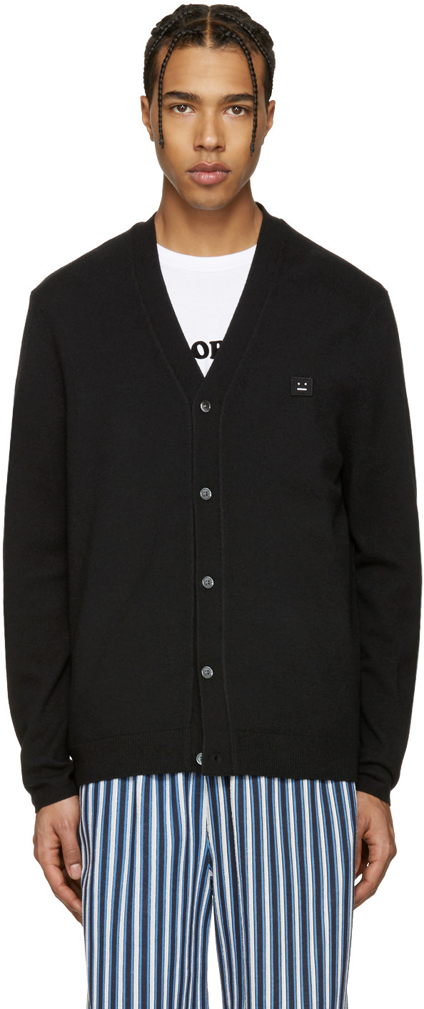 Acne Studios Cardigans Black Dasher C Face Cardigan