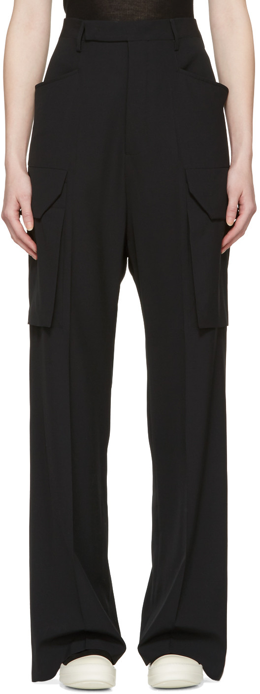 Tailored Wide Leg Cargo Trousers