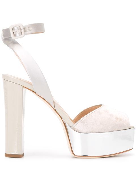 Amelia velvet sandals