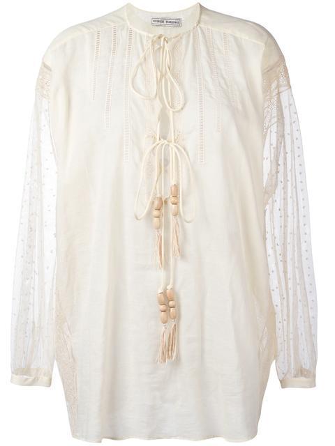 VERONIQUE BRANQUINHO embroidered shirt