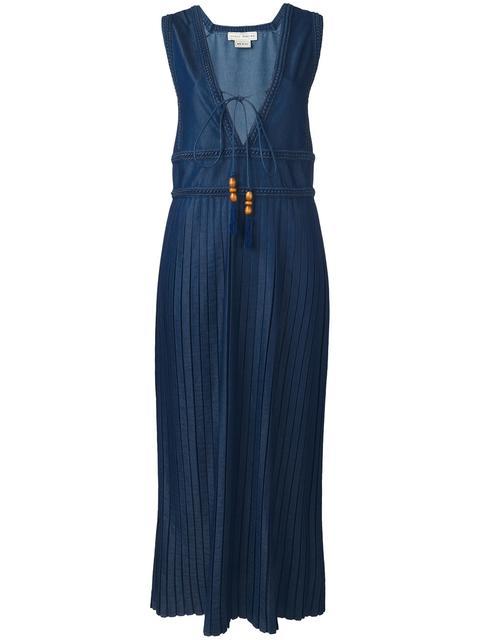 VERONIQUE BRANQUINHO V-neck pleated dress