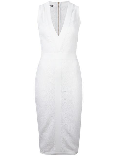 Balmain Midi dresses leopard pattern midi dress