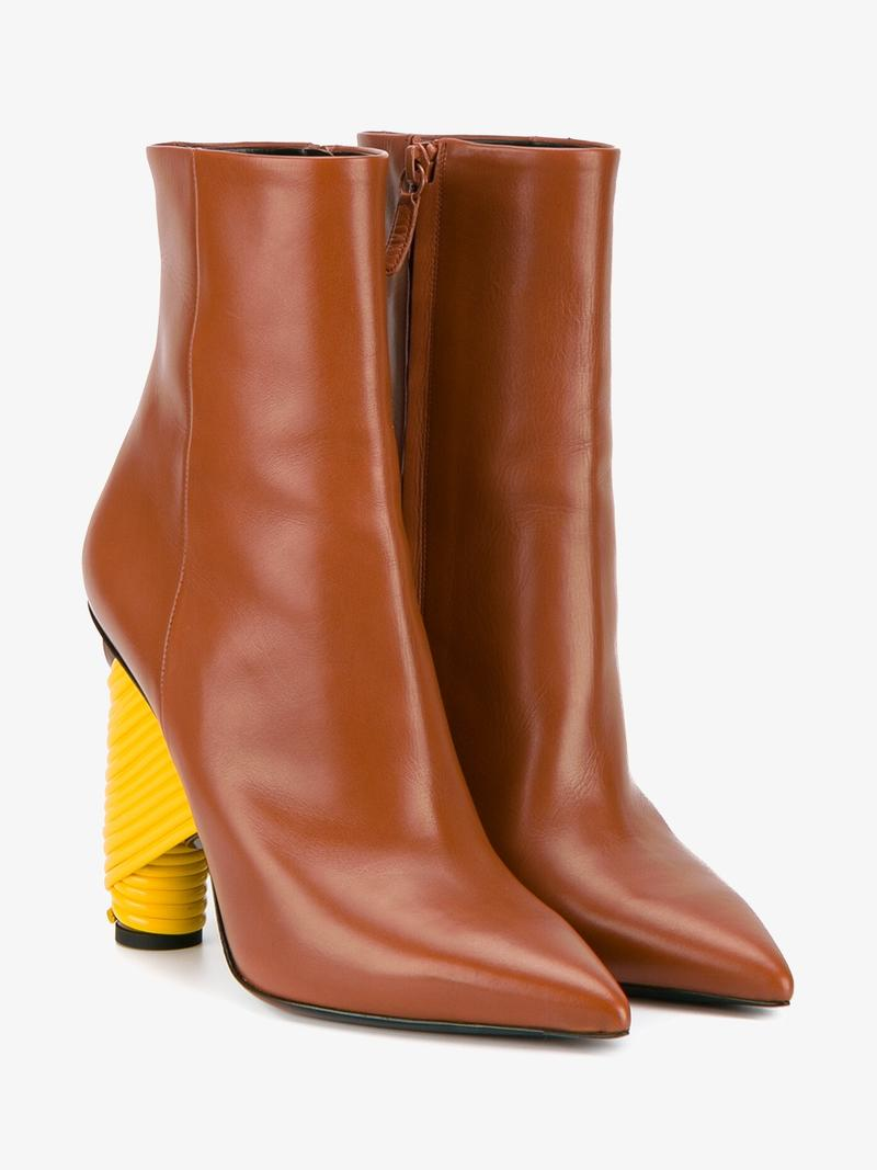 BALENCIAGA BROWN BISTROT 110 ANKLE BOOTS