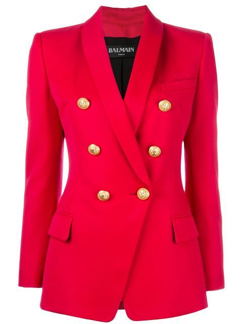 Balmain Wools double breasted blazer