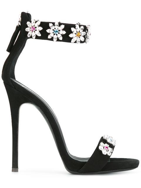 Giuseppe Zanotti Suedes crystal embellished stiletto sandals