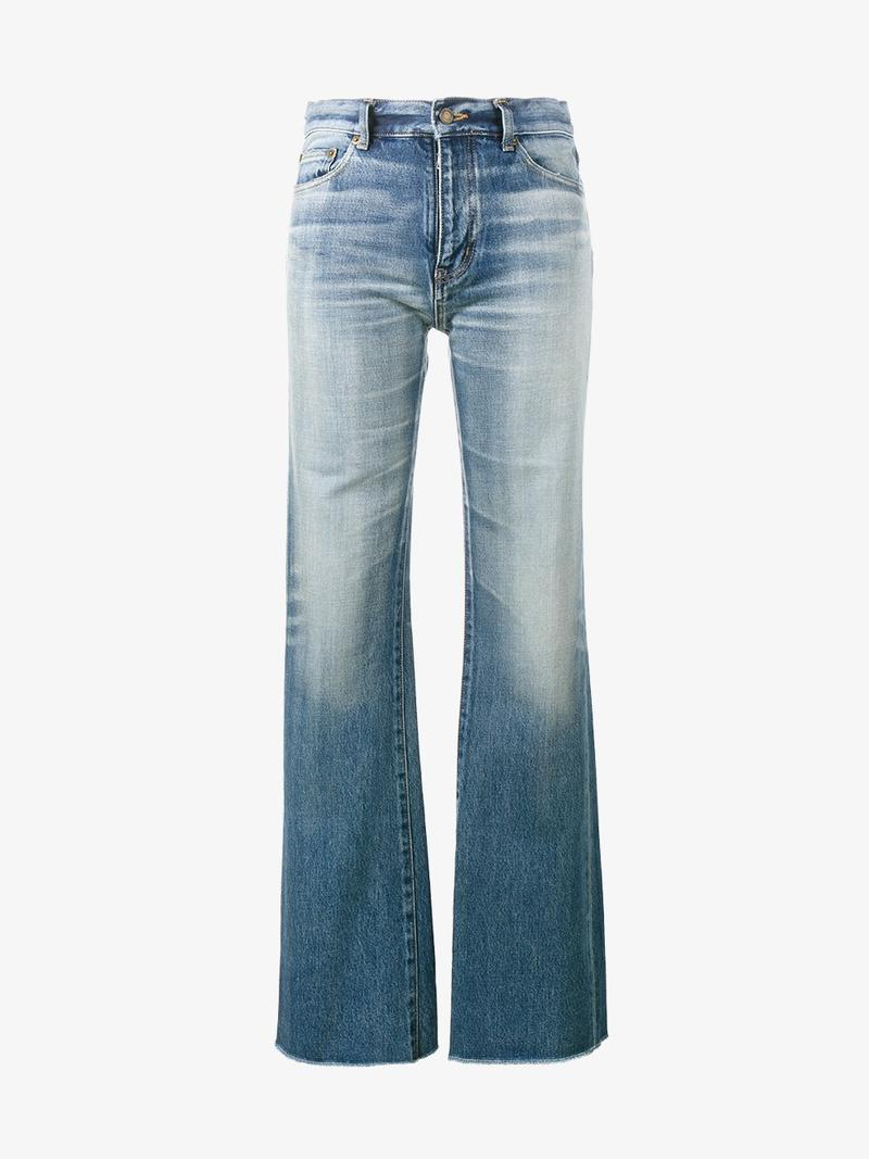 SAINT LAURENT Raw-Cut Flared Jeans