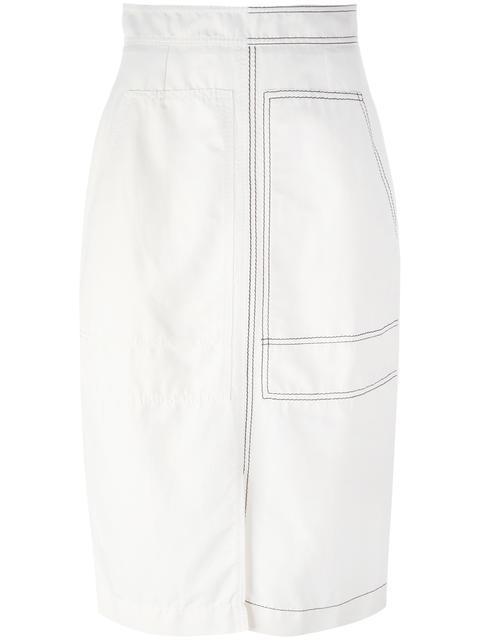 STELLA MCCARTNEY Stitched Patch Pocket Skirt