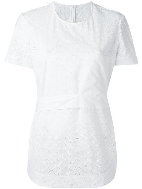 CEDRIC CHARLIER Embroidered Panel T-Shirt