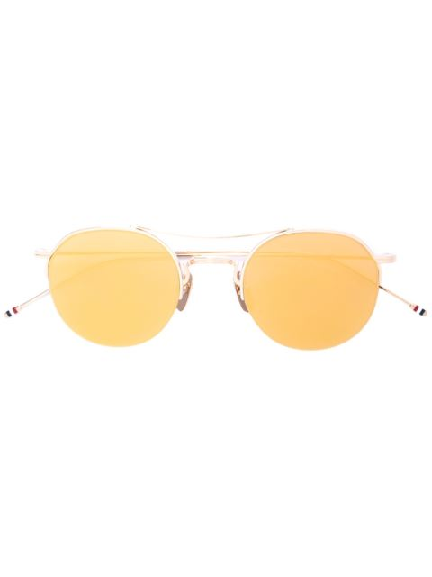 Gold & Brown Aviator Sunglasses