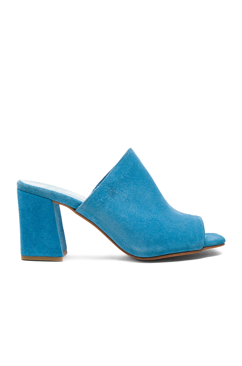 MARYAM NASSIR ZADEH Suede Penelope Mules In Blue. in Turquoise Suede