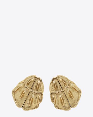Opyum crocodile-effect clip-on earrings