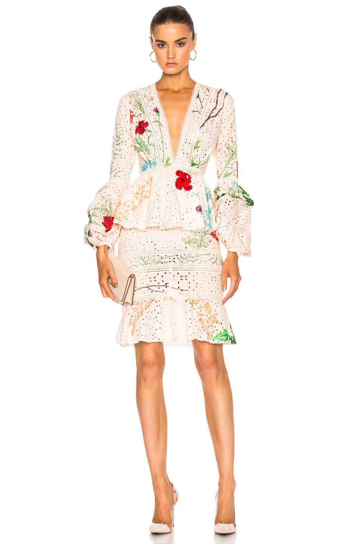 Johanna Ortiz Cottons VITTORIA DRESS IN FLORAL, PINK.