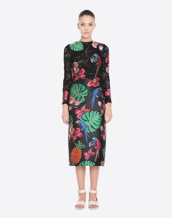 Valentino Silks GUIPURE AND BROCADE DRESS