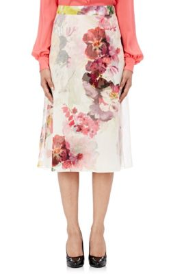 Lanvin Silks Chiffon A-Line Skirt