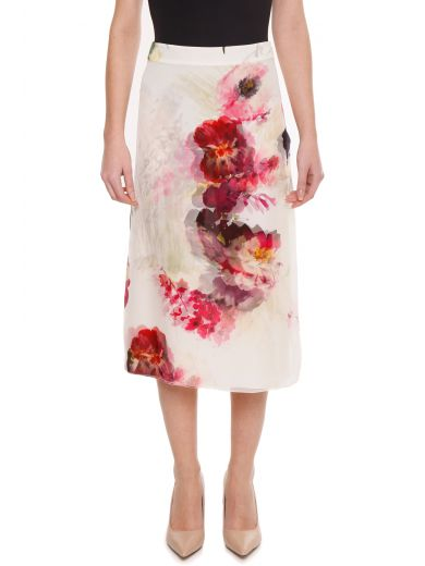 Lanvin Silks Silk Skirt