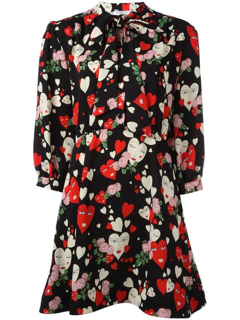 VIVETTA Hearts Print Flared Dress