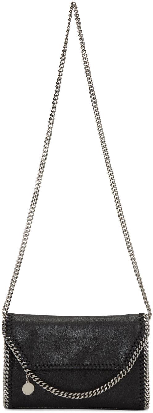 Stella Mccartney Leathers Black Mini Folded Falabella Bag