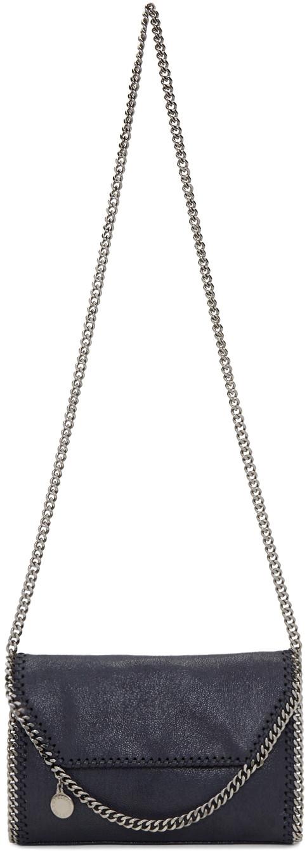 Stella Mccartney Leathers Navy Mini Folded Falabella Bag