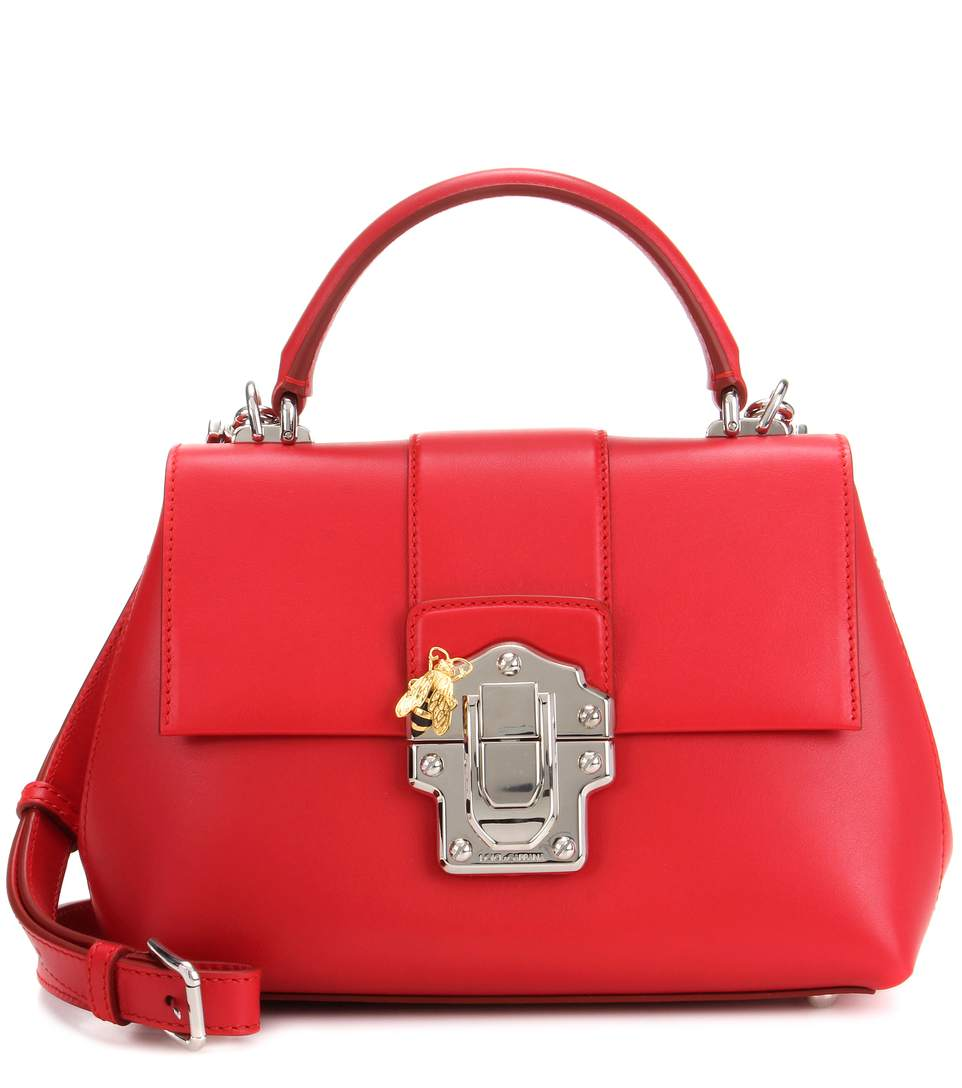 Shoulder Bag for Women On Sale, Lucia Bag, Red, Leather, 2017, one size Dolce & Gabbana