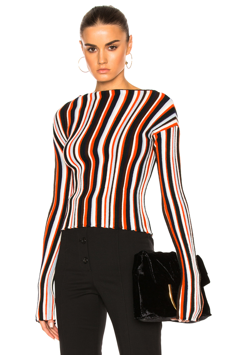 JACQUEMUS JACQUEMUS STRIPED SWEATER IN STRIPES,RED