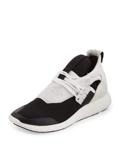 Women's Elle Run Sneakers in White and Black