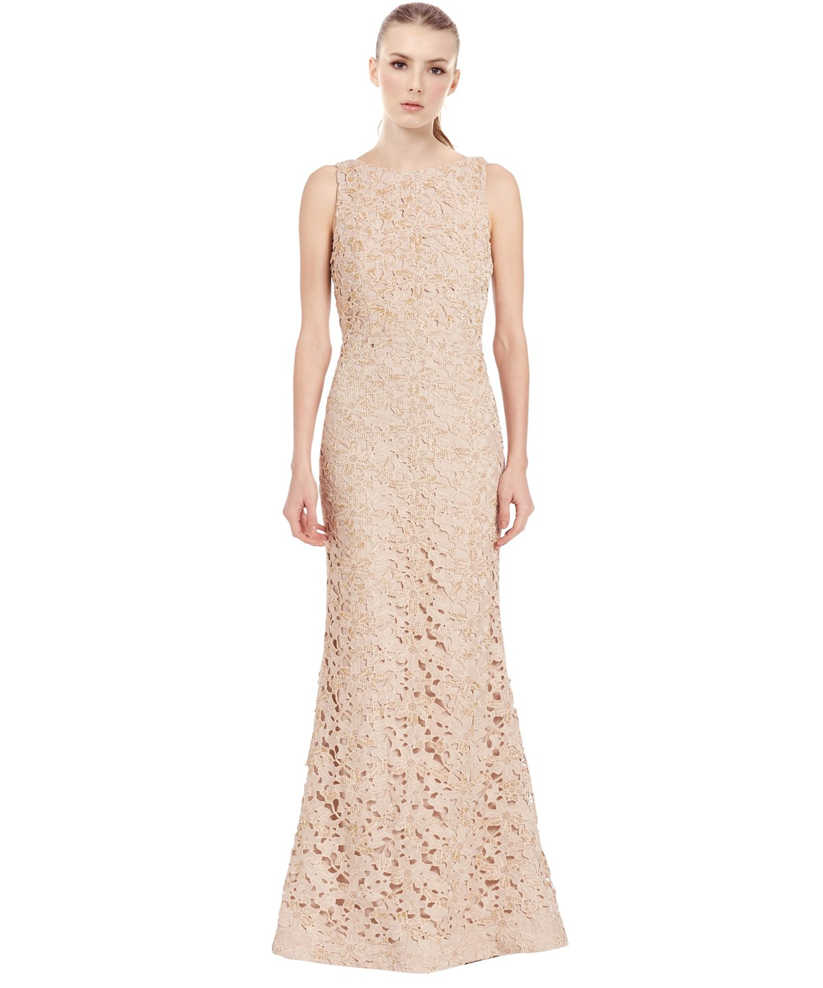 Alice And Olivia Linings KACIE EMBROIDERED LACE GOWN'