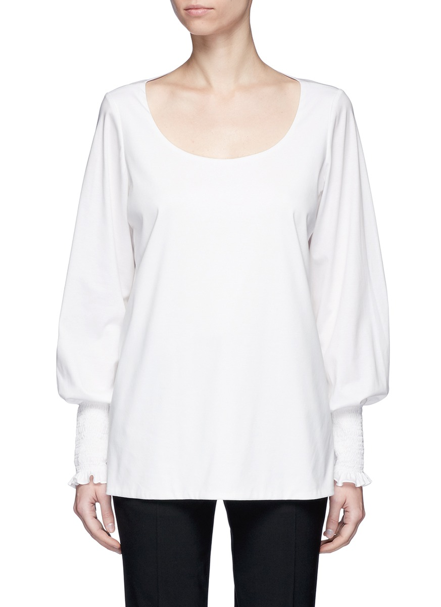The Row Cottons 'Kenu' smock cuff jersey top