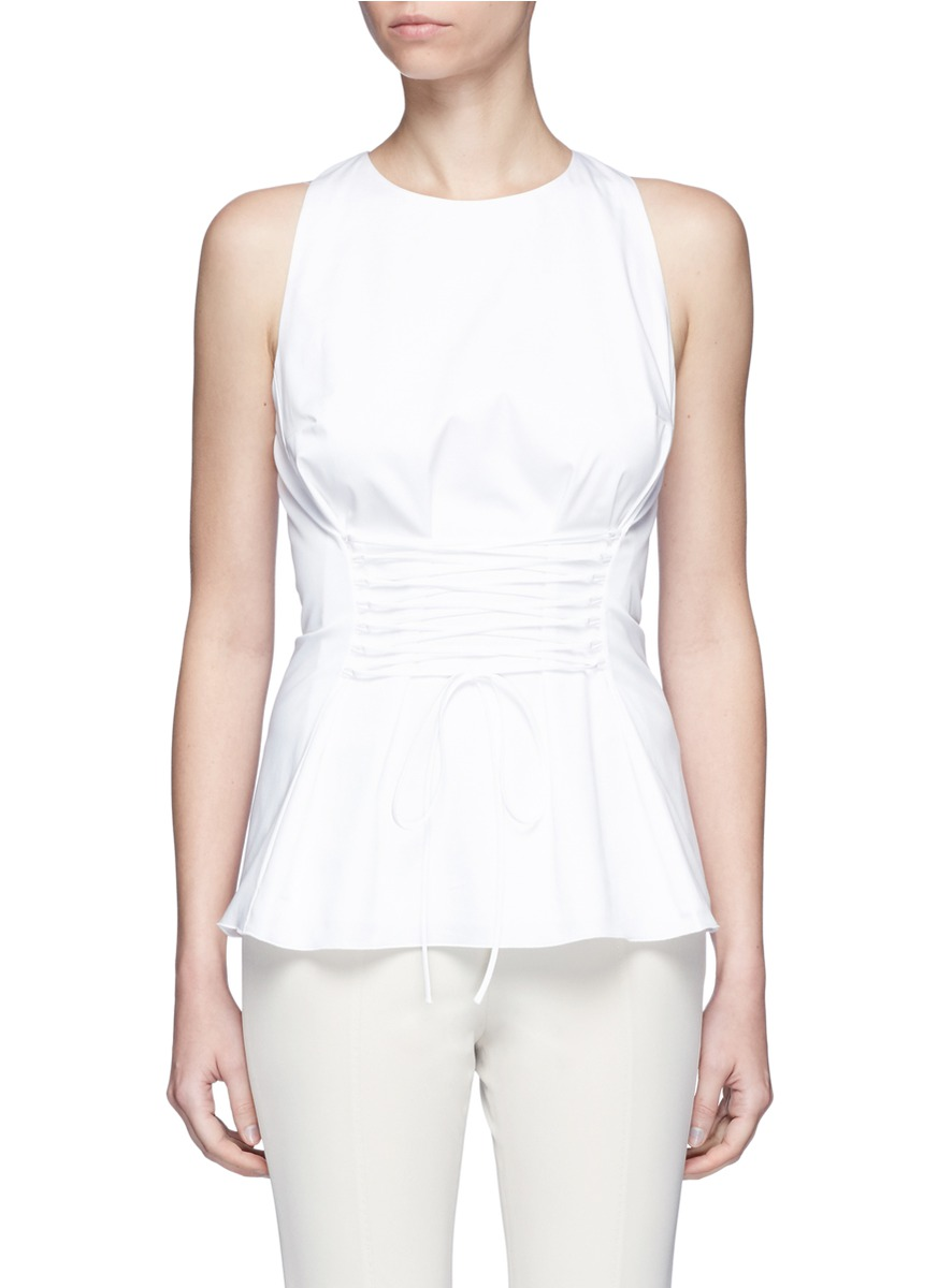 The Row Cottons 'Tallo' lace-up sleeveless top