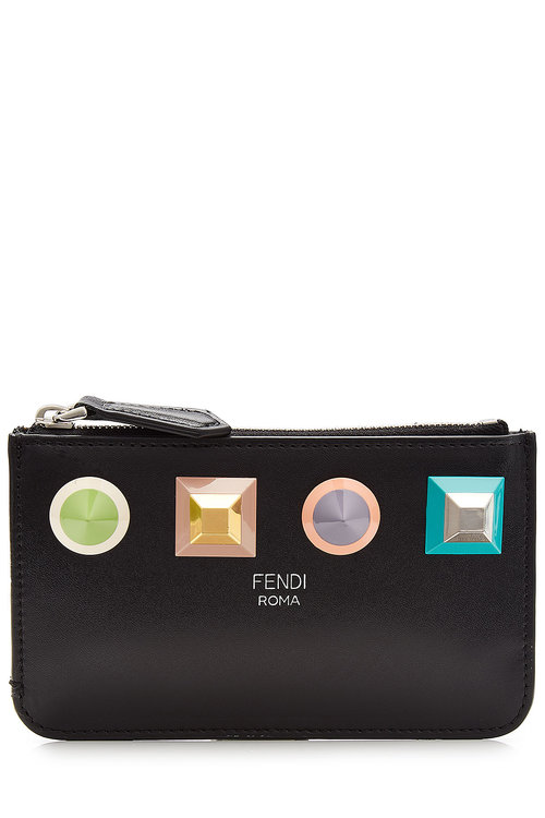 GEOMETRIC STUD COIN POUCH