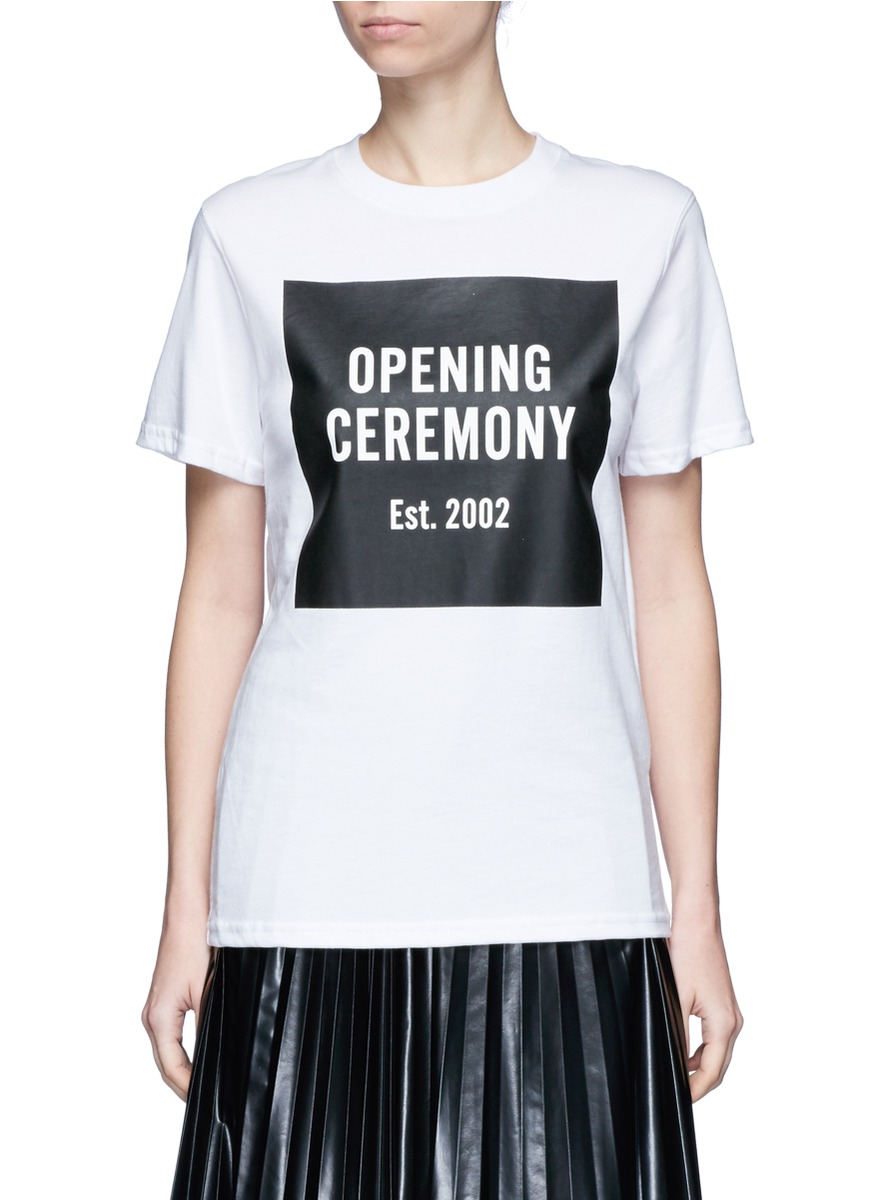 Opening Ceremony 'OC' mirrored logo T-shirt