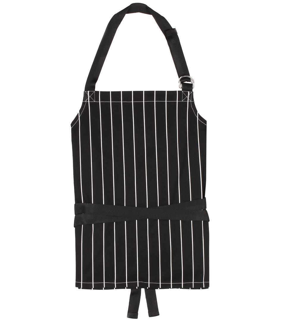 Apron striped cotton-twill top