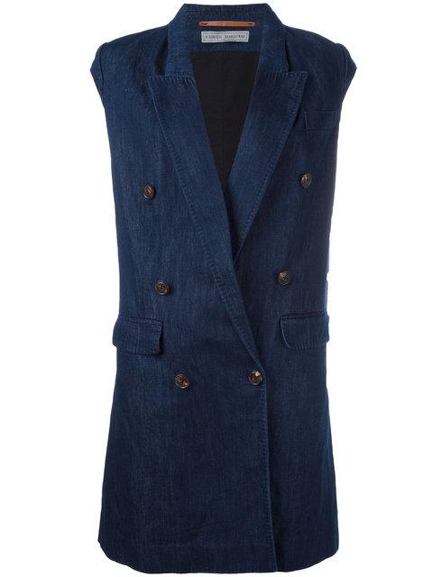 VERONIQUE BRANQUINHO double breasted waistcoat