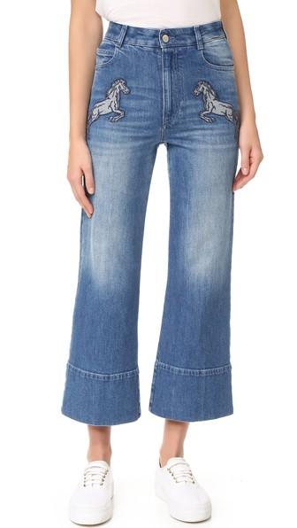 Stella Mccartney Denims Denim Flared Cropped Jeans