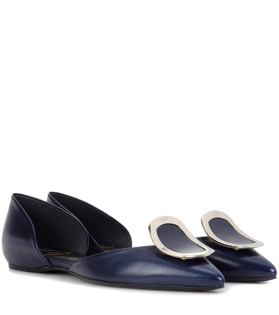 Flat Chips leather ballerinas