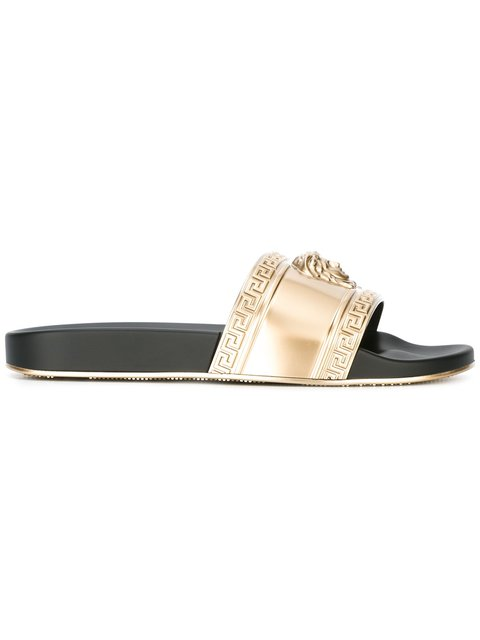 91fa630ac0f7ec VERSACE Men S Baroque Tile Signature Slide Sandal
