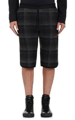 Tryan Plaid Drawstring-Waist Shorts