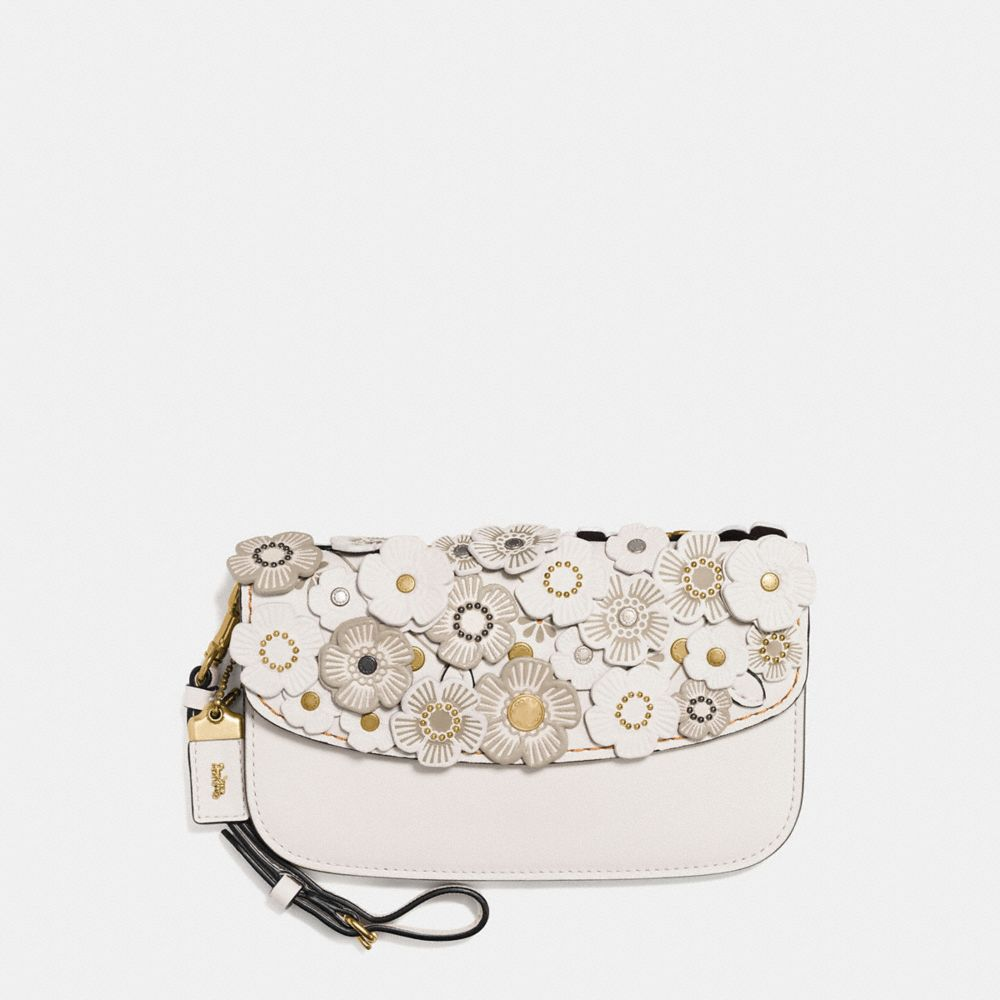 COACH CLUTCH WITH TEA ROSE - WOMEN'S