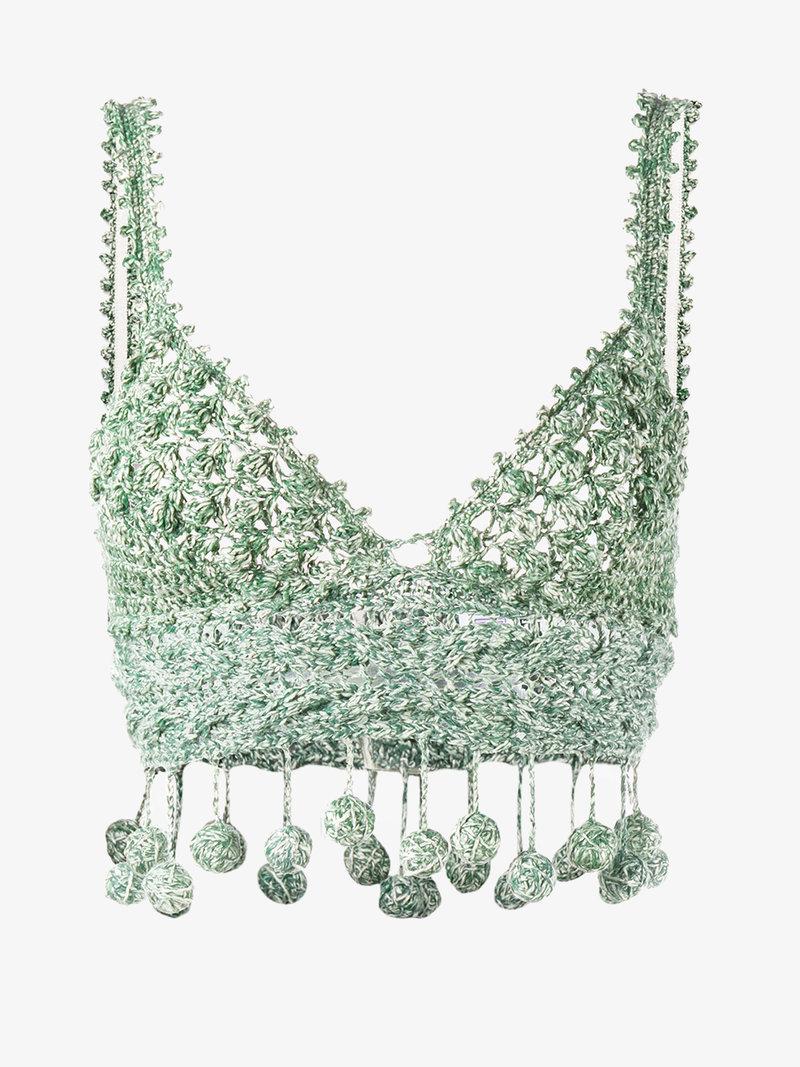 Rosie Assoulin Cottons CROCHET CROP TOP