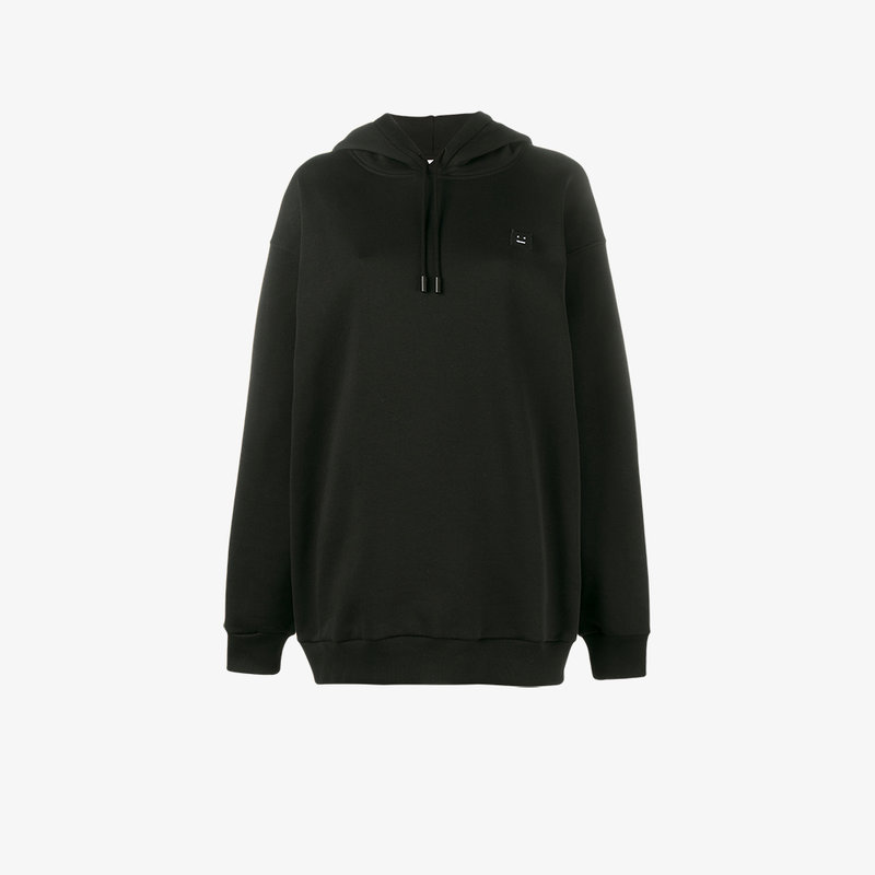 Yala Face oversized embroidered cotton-jersey hooded top