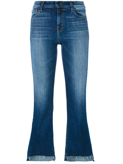 Step Hem cropped jeans