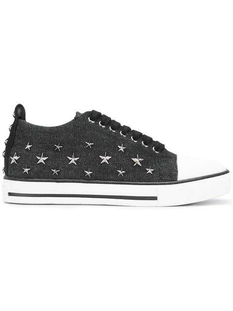 Red Valentino Leathers STAR STUDDED SNEAKERS