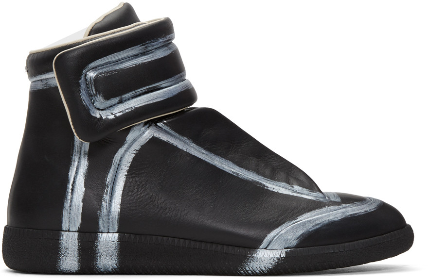 Black & Silver Future High-Top Sneakers