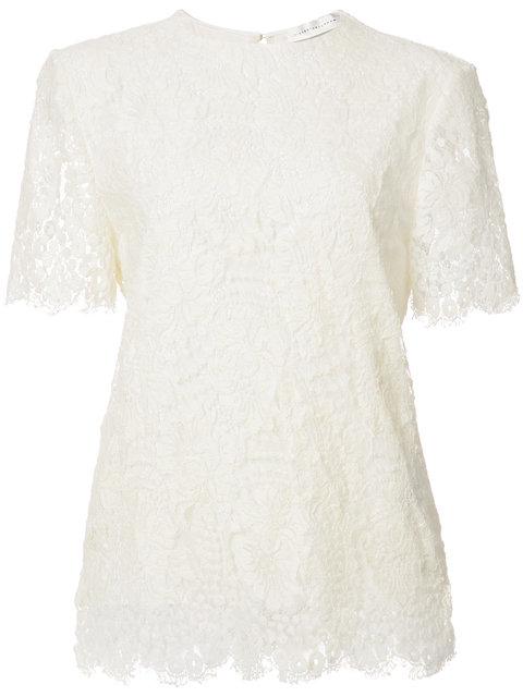 lace shortsleeved blouse