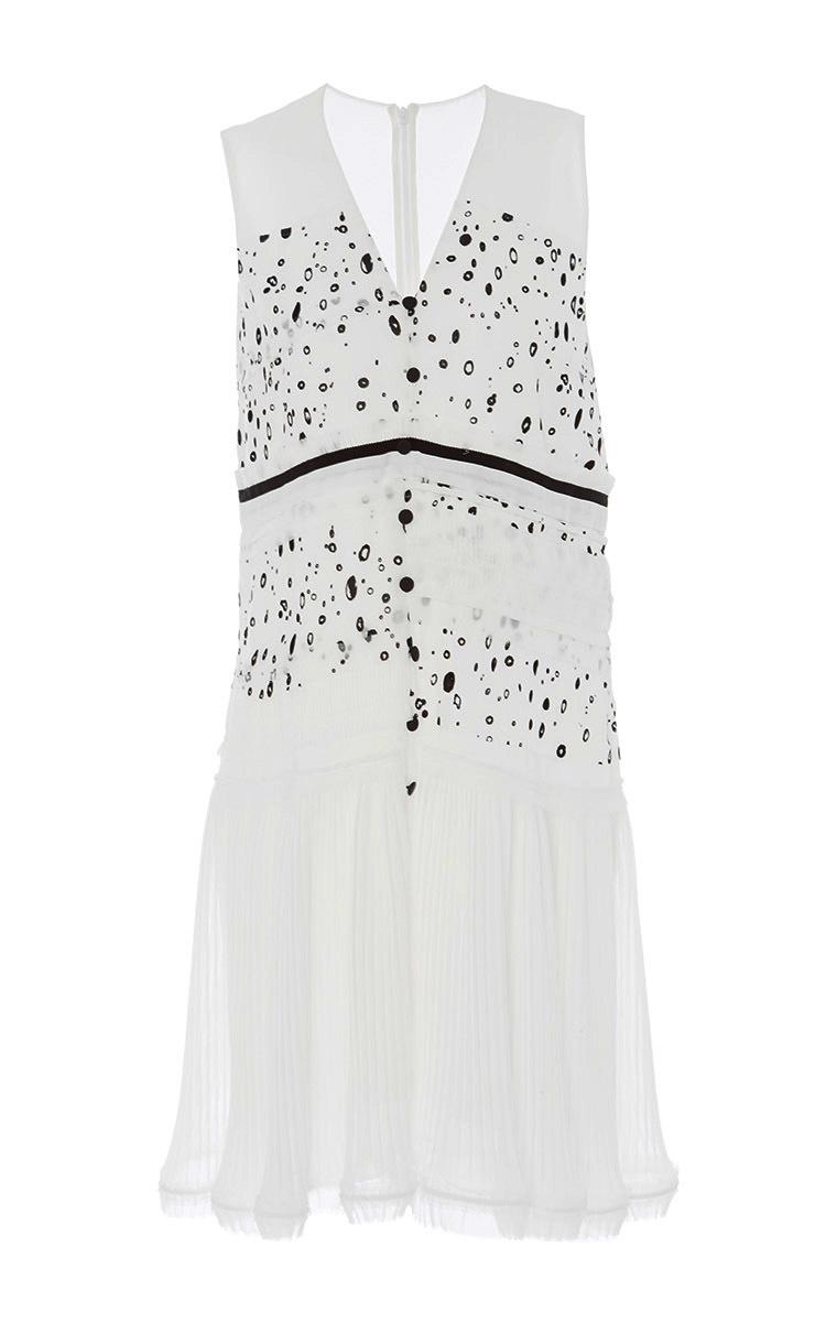 Georgette Printed Sleeveless Dress