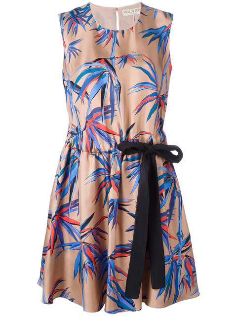 tree print dress