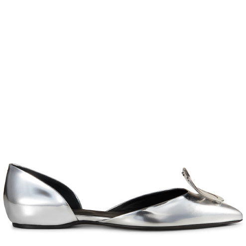 DORSAY METALLIC LEATHER BALLERINAS